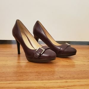 Cole Haan Platform Heels With Belt Detail And Bag